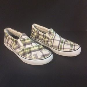 Sperry Shoes - SPERRY Topsiders Plaid Slip On Boat Shoes 10M